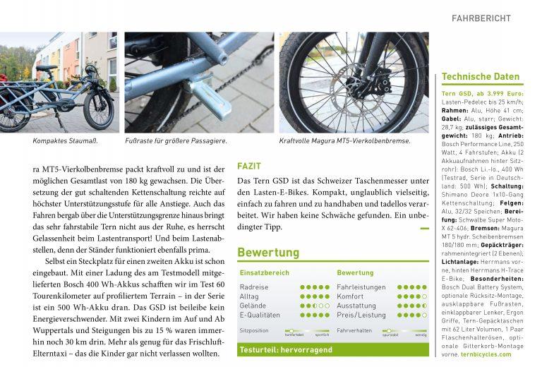 Tern GSD Tourenbericht