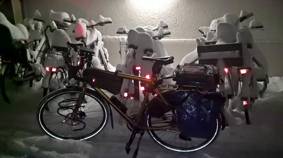 Winter mit dem Fahrrad